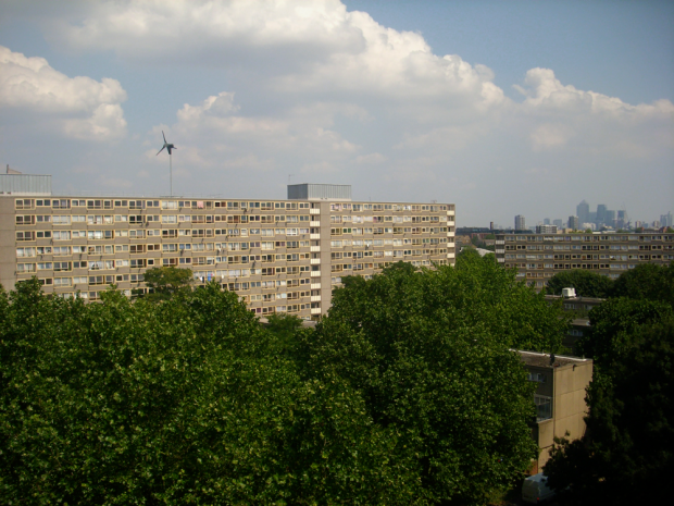 Heygate Estate, Elephant and Castle, in Sunshine