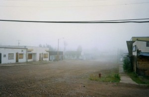 main street, Uranium City, Saskatchewan